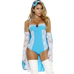 Tea Time Costume Lace Bodysuit Alice Wonderland